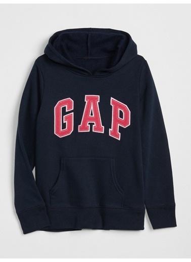 Gap Gap Logo Kapüşonlu Sweatshirt Mavi